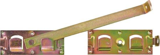 Overslaggrendel geel verzinkt vz 450 mm