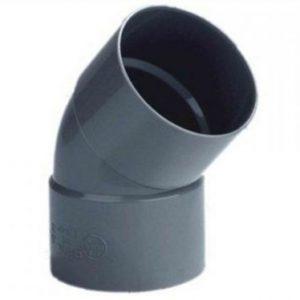 pvc bocht 45º, 2x lijmmof, 40 mm riool