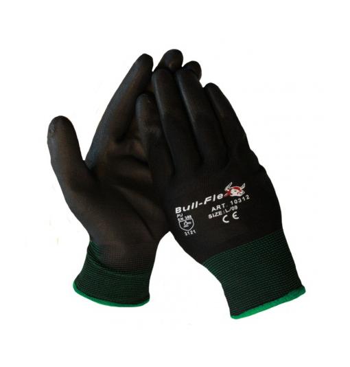 Werkhandschoenen Bull flex 10 zwart XL