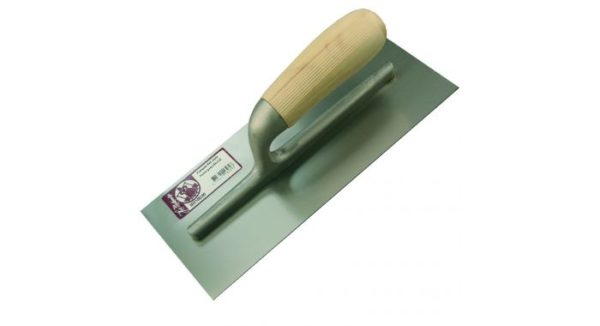 Plakspaan RVS blank hout greep 280x120