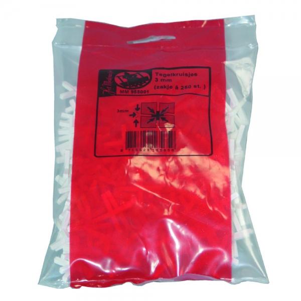Tegelkruisjes zak 250 stuks 2mm