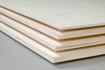 Populier 80Mu blank 122 x 250 cm 12mm