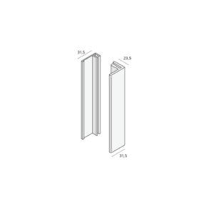 Basis profiel (2807) Aluminium     (verpakking 2x400cm)