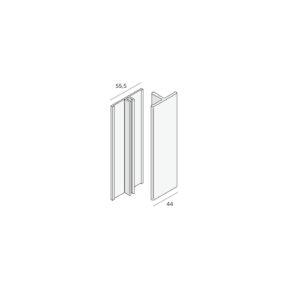 Basis verbindingsprofiel (2805) aluminium (2x400cm)