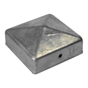 Paal-ornament piramide verzinkt 71x71