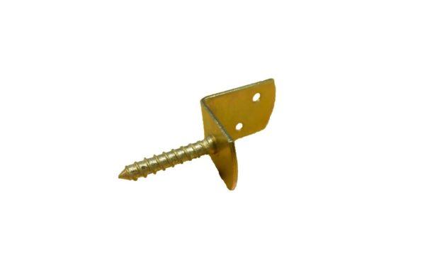 L-vlechtschermsteun geel verzinkt 40x35x30mm (LOS)