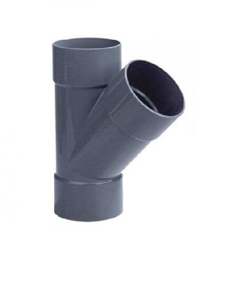 Pvc lijm T-stuk 45º, 3x lijmmof, 40mm riool lijm