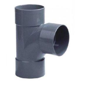 Pvc lijm T-stuk 87º, 3x lijmmof, 40 mm riool lijm