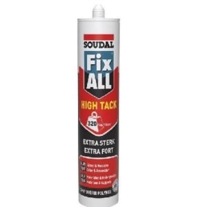Fix-all high tack komo zwart lijm koker 290ml