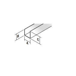 Metal stud U 27mm profiel L=4,00m