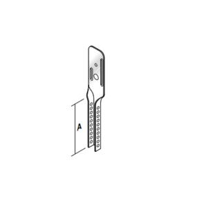 Metal stud nonius bovenhanger 100mm per blister